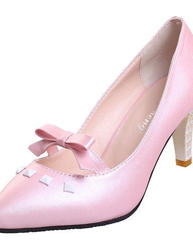 WSS 2016 Chaussures Femme-Bureau & Travail / Décontracté / Soirée & Evénement-Noir / Rose / Blanc-Talon Aiguille-Talons / Bout Pointu-Chaussures à black-us6 / eu36 / uk4 / cn36