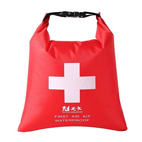 Praktische 1.2 L Wasserdichte Tasche, leere Erste Hilfe Pouch First Aid Stausack Notfalltasche für Outdoor Sport Camping Wandern Reisen Rafting Snowboarding Notfalltasch (Großer Packsack)