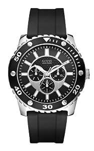 Reloj Guess W10616G1 de cuarzo para hombre con correa de silicona, color negro de Guess