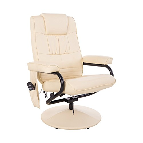 Homcom Massagesessel 921-006CW  inkl. Hocker Creme - 2