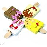 INFInxt Ice Cream Pencil Eraser Set for Kids Birthday Return Gift (Pack of 4 Pcs)