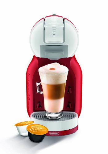 Nescafe EDG305.WR Dolce Gusto Mini Me Coffee Capsule Machine by De'Longhi - Red and White