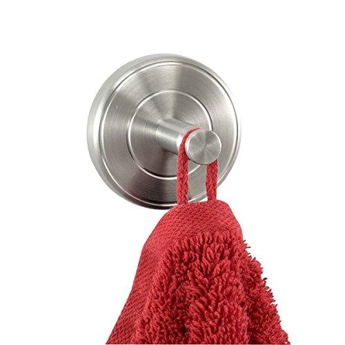 Badserie Ambiente - Handtuchhaken, Handtuchhalter 2er Set aus robustem Edelstahl matt - zur Wandmontage
