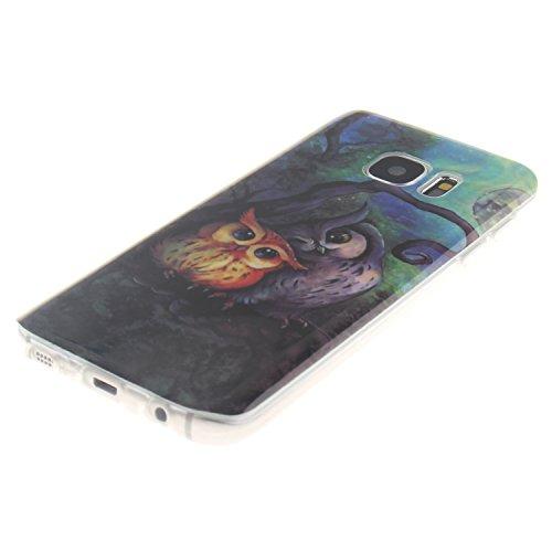 Qiaogle Téléphone Coque - Soft TPU Silicone Housse Coque Etui Case Cover pour Apple iPhone 6 Plus / iPhone 6S Plus (5.5 Pouce) - TX34 / Cute Panda TX31 / Couples hibou