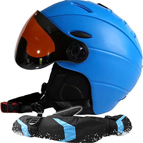Marke Mann/Frau / Kinder Skihelm/Schutzbrillen / Handschuhe Snowboard Helm Skateboard Maske Moto Bike Klettern Radfahren Camping Sport Sicherheit Blue M 55-58 cm
