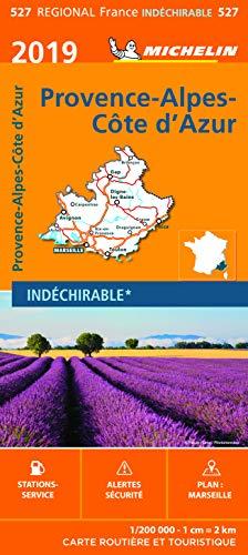 Carte Provence-Alpes-Côte-d'Azur Michelin 2019 par  Michelin