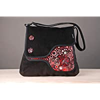 Bolso Giulietta negro/effervescence rojo