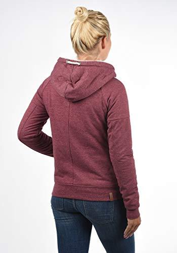 DESIRES Mandy Pile Damen Sweatshirt Pullover Pulli Mit Teddy-Futter, Größe:XS, Farbe:Wine Re P (P8985) - 3