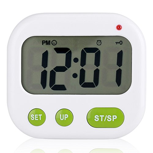 Despertador Digital LCD Reloj de vibración con pilas Reloj de temporizador portátil moderno con retroiluminación Se adapta a Office Dormitorio Dormitorio de viaje