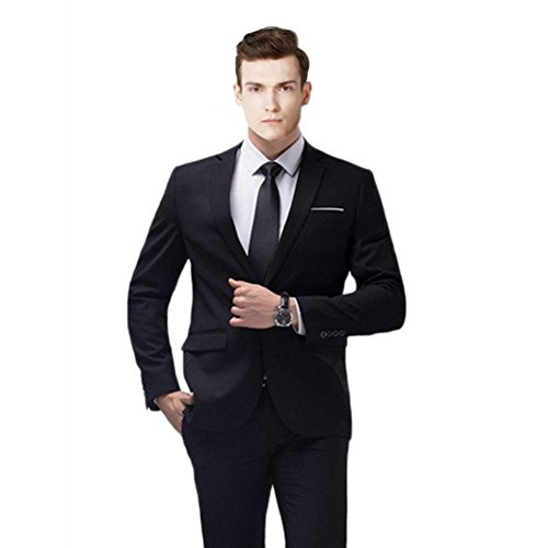 MYS-Pantaloni Tuta Notch personalizzata Classic Cravatta Set Nero Puro Black Su Misura
