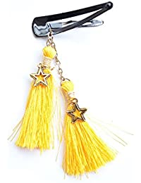 Boho Silk Tassels Hair Jewelry Yellow Gold Clip Hair Clip Hair Accessory