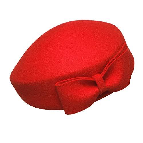 Huacat Modischer Leder Malerhut Schwarz Reitmütze Männer Frauen Barett Retro Achteckige Kappe Herbst Winter Ballonmütze (Finn Hut Kostüm)