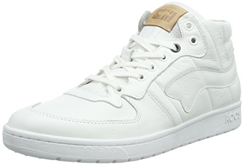 KangaROOS Full-Court-Mid-Nappa, Baskets Basses Homme Blanc - Weiß (wht 000)