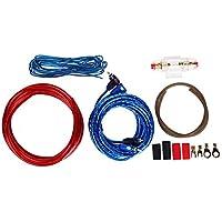 Hauggen1 1 Juego de Audio del automóvil Conectado Amplificador de cableado de Alambre de 8 amperios Subwoofer Kit de instalación de Altavoces Cable de alimentación Portafusibles