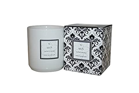 Quinn lilly Ceramic Soy Wax Candle, Lime Basil & Mandarin, Beautiful Presented Candle, Best Scented Candle, value for Money With 50 Hour Burn Time