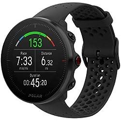 Polar Vantage M -Reloj con GPS y Frecuencia Cardíaca - Multideporte y programas de running - Resistente al agua, ligero - Negro Talla M/L