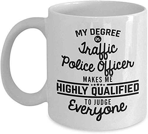 Funny Traffic Police Officer Coffee Mug Police Academy Graduation Gifts 11 Oz Tea Cup Gift Idea Men Woman Dad Boyfriend Girlfriend Friend Coworker