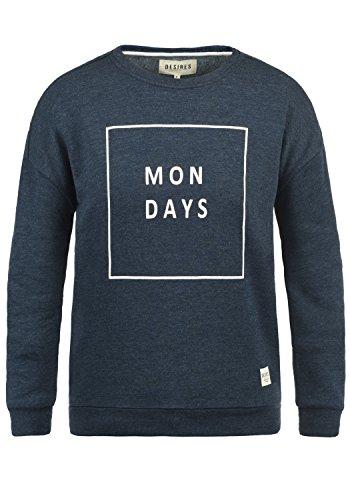 DESIRES Emma Damen Sweatshirt Pullover Sweater mit Rundhalsausschnitt, Größe:XXL, Farbe:Insignia Blue Melange (8991)