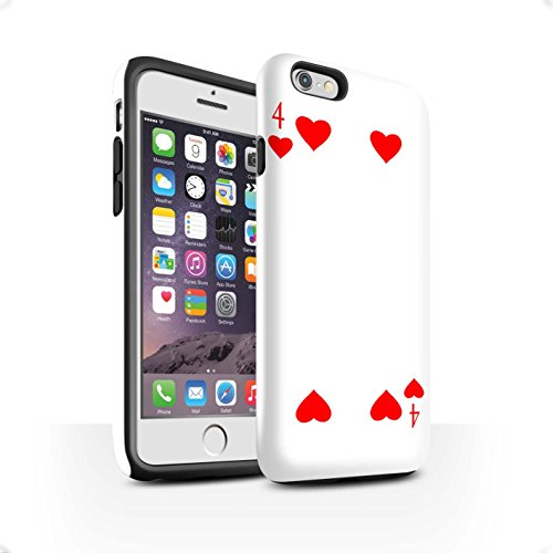 Coque Brillant Robuste Antichoc de STUFF4 / Coque pour Apple iPhone 4/4S / Joker Design / Cartes à Jouer Collection 4 de Cour