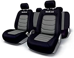 Sparco Seat Cover Set Polyester & Mesh - Grey [Spc1019Gr] Sp 90066