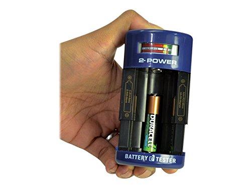 2-Power bth0003Hat–BATTERIETESTER für AA, AAA, C, D, 9V Garantie (12)