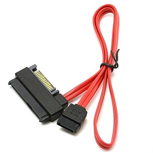 Goliton® SFF-8482 SAS vers SATA cable SAS disque dur connecté à la carte mère SATA adaptateur port de port d'alimentation câble 15 broches-Noir