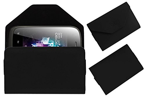 Acm Premium Pouch Case For Micromax A52 Flip Flap Cover Holder Black  available at amazon for Rs.389