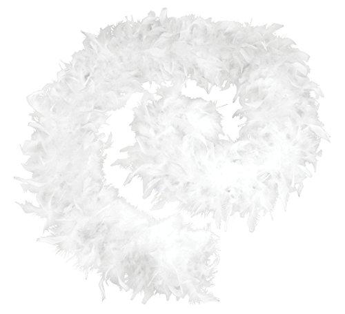 Bristol Novelty BA1672 Federboa, Weiß, (Pudel Rock Kostüm Für Damen)