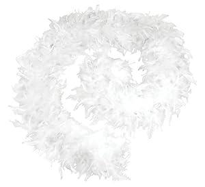 Bristol Novelty - BA1672 - Boa de Plumas, 80 g, Talla única, Color Blanco Blanco Blanco Talla única