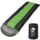LATTCURE -9°C Outdoor Schlafsack Deckenschlafsack für Camping im Winter, Weich, Dick und Warm Schlafsack (Grün)