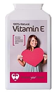 Treasure Your Health Natural Vitamin E (d-Alpha Tocopherol), 120 x 400iu Capsules