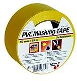 SCHULLER Bau-Klebeband | PVC MASK Q | gelb | UV-beständig | 50 mm x 33 m | 1 Rolle