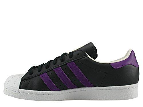 Adidas, Donna, Superstar 80s Nero Viola, Pelle / Suede, Sneakers, Nero Nero