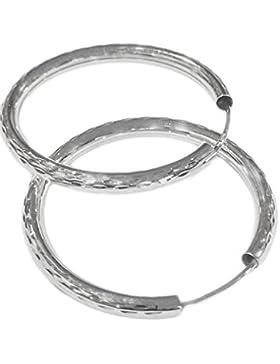 *925 Silber Ohrringe Ohrschmuck Creolen Ohrreif diamantner 2,5x30mm*