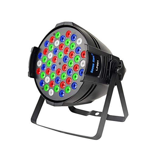SevenStars Par Bühne Licht 54X3W LED einzelne Farbe DJ Projektor RGBW 162W DMX 512 Bühnenbeleuchtung für Disco Hochzeit Kirche Konzert Tanzfläche