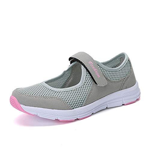 Patifia Schuhe, Mode Frauen Einfarbig Schuhe Sommer Sandalen Anti Slip Fitness Laufen Sportschuhe Mesh Klettverschluss Sport leichte Freizeitschuhe Turnschuhe Hausschuhe Sommerschuhe -