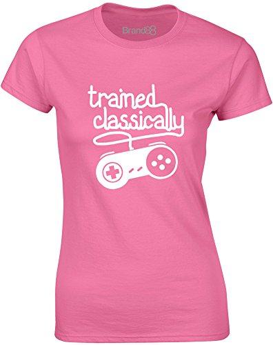 Brand88 - Trained Classically, Mesdames T-shirt imprimé Azalée/Blanc
