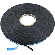 Bonus Eurotech 2bf42.61.0009/010A # cinta de espuma de doble cara cinta adhesiva, acrílico pegamento, geschlossenzelliger polietileno, longitud total de 10m x 9mm de ancho x grosor 0,8mm, Negro