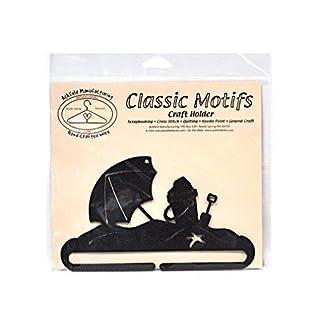 Ackfeld Manufacturing Classic Motifs Beach Umbrella 6 Inch Charcoal Split Bottom Craft Holder