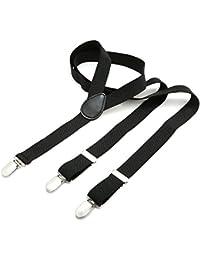 DonDon® Herren Hosenträger 2,5 cm mit 3 Klips in Y-Form elastisch und längenverstellbar