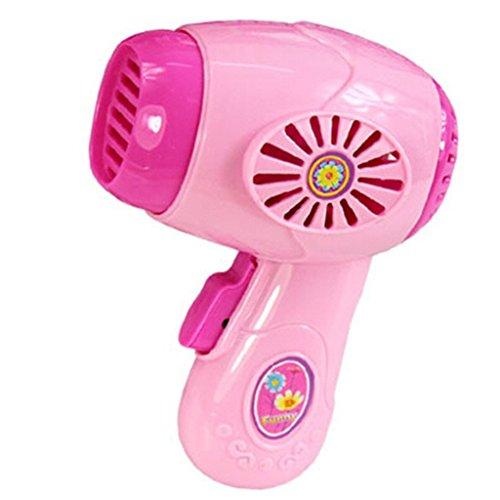 kingken Creative Kunststoff Simulation Haartrockner Home Appliance Spielzeug für Kinder (Pink) - Kunststoff-appliance