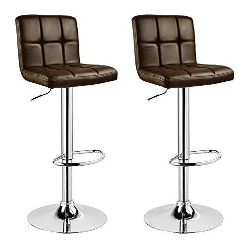 WOLTU BH40pkw-2 2 x Barhocker Tresen Stuhl Drehhocker Kunstleder Lounge 2 farbig Pink+Weiss