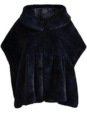 Mujer Chal De Piel Otoño Invierno Piel Sintética Capa Abrigos Elegantes Fashion Vintage Clásico Especial Espesar...