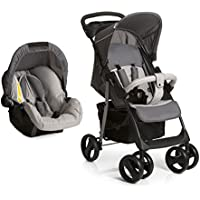 Hauck Shopper Shop-n-Drive Set Lightweight Travel System, from Birth, Grey (Car Seat, Foot Muff, Change Bag and Raincover)