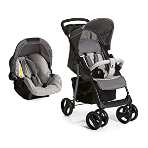 Hauck Shopper Shop-n-Drive Set Lightweight Travel System, from Birth, Grey (Car Seat, Foot Muff, Change Bag and Raincover) Bugaboo Foam filled rubber tyres Mattress with aerated inlay One hand release carrycot 6