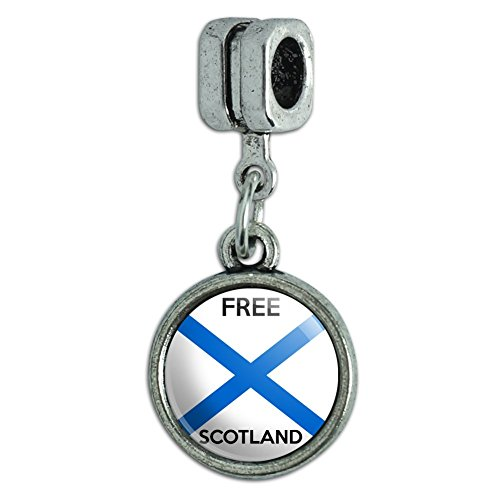 Graphics and More Free Scotland Scottish Independence Party Italian European Style Bracelet Charm Bead