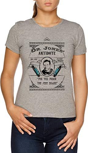 Dr Jones Gegenmittel- Indiana Jones Damen T-Shirt Grau
