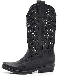 If Fashion Cowboy Western Scarpe da Donna Stivali Stivaletti Punta Camperos  Texani Etnici DT,16