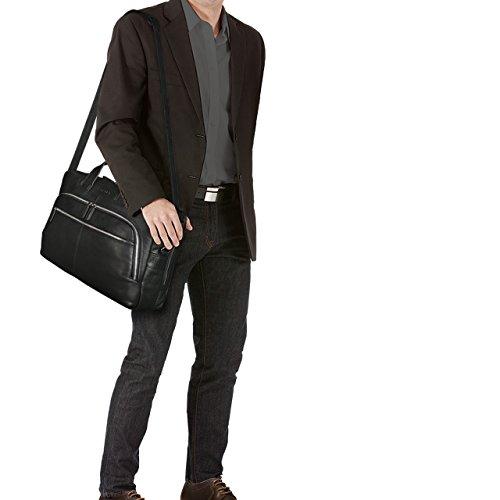 STILORD 'Lias' Vintage Borsa Uomo Grande / XL / Borsa a Tracolla / da Ufficio / Portadocumenti Piccola borsa da viaggio Valigetta Cuoio Antico, Colore:kara - cognac nero