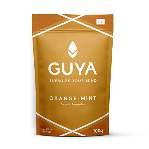 GUYA-Bio-Guayusa-ORANGE-MINT-INFUSION-100g-lose-Energize-Your-Mind-fr-mehr-Konzentration-Leistung-mehr-Kreativitt-100-natrlicher-Bio-Energy-Drink-Tee-reich-an-Koffein-L-Theanin